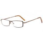 リーディンググラス [老眼鏡] [シニアグラス] 専用ケース付き R7325 メタルブラウン おしゃれ