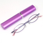 老眼鏡 シニアグラス ペン型ケース入 パープル