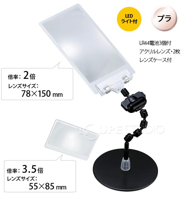 LEDライト付スタンドルーペ 2&3倍使用例1