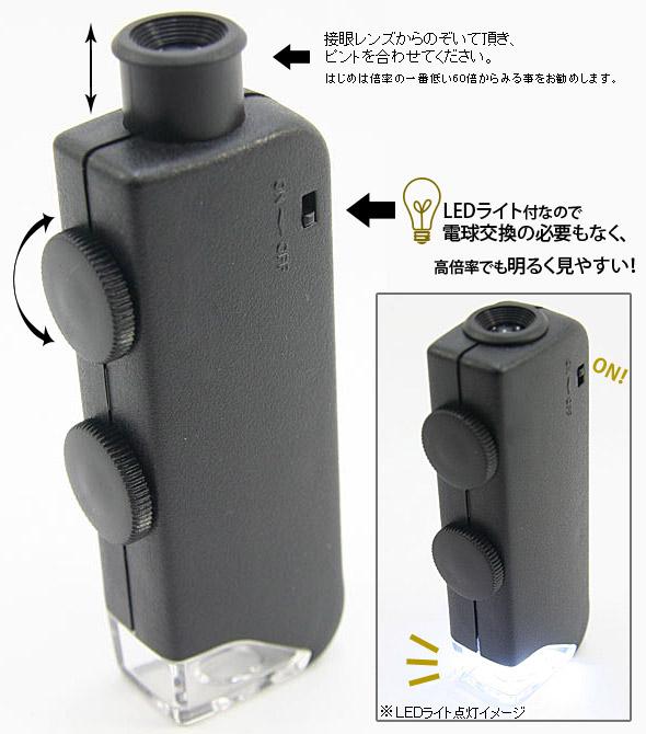 60-100倍ズームライト付小型顕微鏡のご紹介