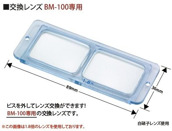 双眼ヘッドルーペBM-100専用交換レンズ2.3倍のご紹介