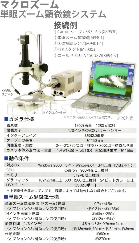単眼ズーム顕微鏡