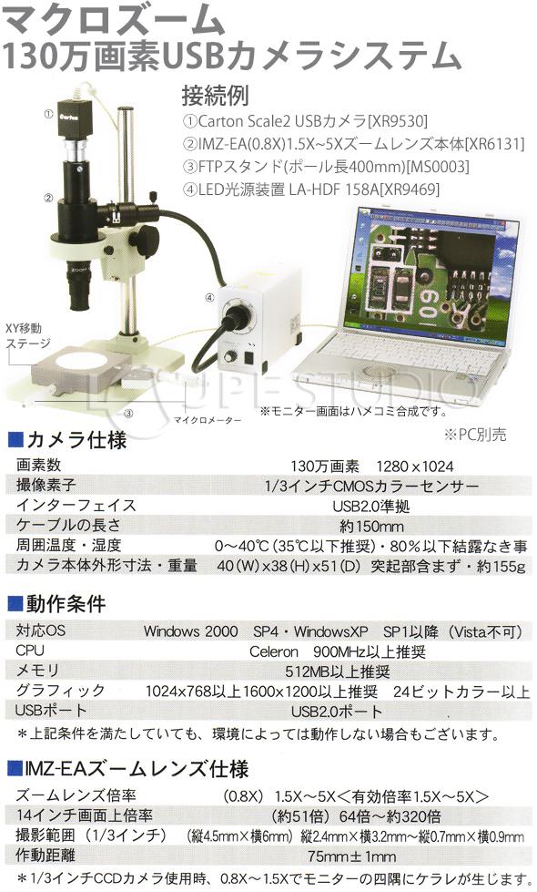 マクロズーム130万画素USBカメラシステム1