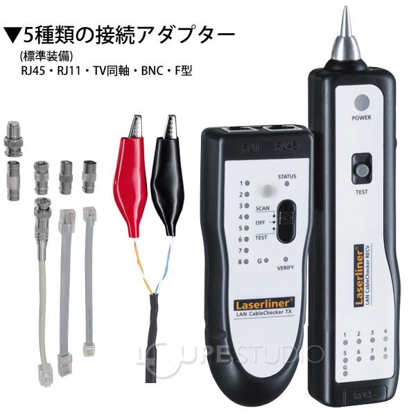 5種類の接続アダプター