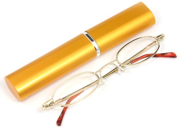ペン型老眼鏡ゴールドのご紹介