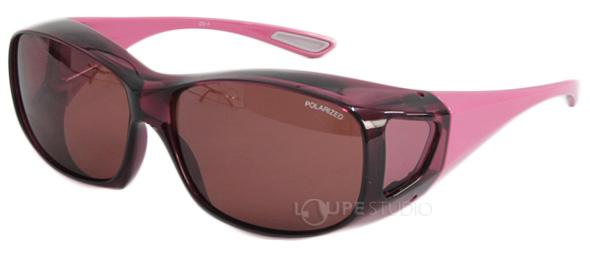 エロイコ 偏光オーバーグラス OS-1 グレーローズ/ピンク