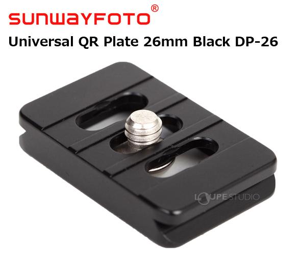 汎用クイック・リリースプレート Universal QR Plate 26mm Black DP-26