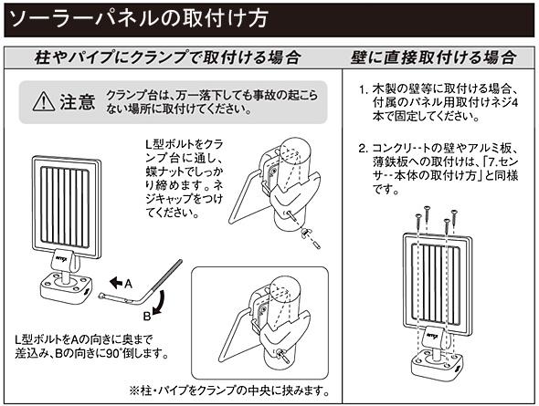 ソーラーパネルの取付け方