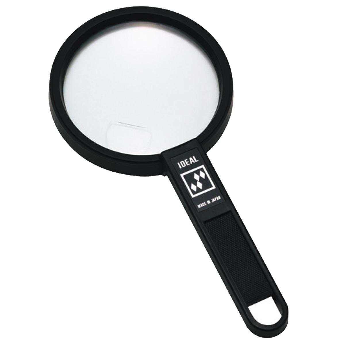 拡大鏡 プラスチックレンズ [手持ちルーペ 虫眼鏡 虫めがね 天眼鏡] アイデアルルーペ 1130-P 2倍&4倍 75mm 池田レンズ