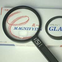 ルーペ 老眼 拡大鏡 プラスチックレンズ [手持ちルーペ 虫眼鏡 虫めがね 天眼鏡] アイデアルルーペ 1160-P 1.8倍&4倍 115mm 池田レンズ