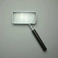 拡大鏡 [手持ちルーペ 虫眼鏡 虫めがね 天眼鏡] 角型ルーペ 1510 2.5倍 40x75mm 池田レンズ