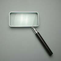拡大鏡 [手持ちルーペ 虫眼鏡 虫めがね 天眼鏡] 角型ルーペ 1520 2.5倍 45x90mm 池田レンズ