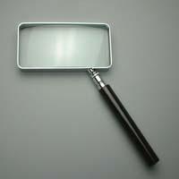 拡大鏡 [手持ちルーペ 虫眼鏡 虫めがね 天眼鏡] 角型ルーペ 1530 2倍 50x100mm 池田レンズ