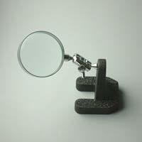 虫眼鏡 スタンド ルーペ 卓上 拡大鏡 スタンド式 小型スタンドルーペ 1610 3.5倍 50mm 池田レンズ ガラスレンズ 日本製
