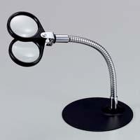 虫眼鏡 スタンド ルーペ 卓上 拡大鏡 スタンド式 スタンドルーペ 1645 4倍&7倍 36mm ルーペ スタンド
