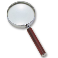 拡大鏡 [手持ちルーペ 虫眼鏡 虫めがね 天眼鏡] デラックスルーペ 2.5倍 100mm 13525 池田レンズ ルーペ 拡大鏡