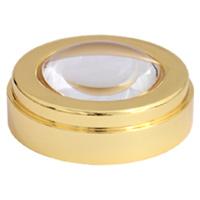 ルーペ 5倍 50mm ゴールド 文鎮 虫眼鏡 拡大鏡 ルーペ デスクルーペ ホワイトガラスレンズ 池田レンズ
