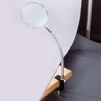 虫眼鏡 スタンドルーペ 1780 1.8倍 130mm クランプ式 卓上 拡大鏡 ルーペ スタンド 池田レンズ ガラスレンズ 日本製
