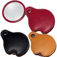 虫眼鏡 ポケットルーペ 3123 3.5倍 45mm 携帯用本革製 池田レンズ