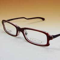 老眼鏡 [シニアグラス] カンダオプティカル スライト2 [ダークレッド/クリアー] 強度 男性 女性 おしゃれ