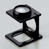 虫眼鏡 リネンテスター 7532 7倍20mm ダブルレンズ ブラック ミリ&インチメモリ 測量,検査用ルーペ 日本製 池田レンズ