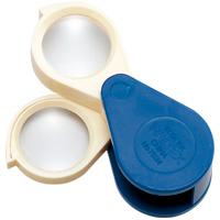 プラスチック枠ルーペ 7534 4倍 6倍 24mm レンズ2枚合わせて10倍 虫眼鏡 拡大鏡 携帯 ポケットルーペ 池田レンズ