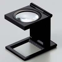 虫眼鏡 リネンテスター 7550 6倍 30mm ブラック ミリ&インチの白メモリ 測量,検査用ルーペ