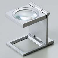 虫眼鏡 リネンテスター 7551 6倍 30mm シルバー ミリ&インチメモリ 測量,検査用ルーペ 日本製 池田レンズ