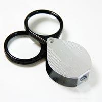 虫眼鏡 繰り出し ポケットルーペ 7961 4倍 36mm 2枚重ねで7倍 携帯用 池田レンズ アウトレット