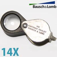 ボッシュ ルーペ 14倍 ボシュロム ボッシュ&ローム プロ御用達 宝石 鉱石 鑑定 検品