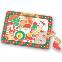 クリスマス 絵あわせパズル ゲーム サンタクロース トナカイ 雪だるま 玩具 おもちゃ ベビー 幼児 子供 キッズ 絵合わせ
