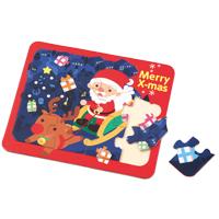 クリスマスパズル ゲーム サンタクロース トナカイ 玩具 おもちゃ ベビー 幼児 子供 キッズ 絵合わせ