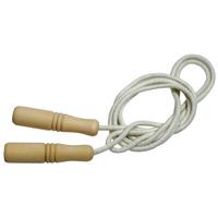縄跳び 子供用 ロープ 綿 220cm 幼児 木柄 木製グリップ 長さ調節可能 なわとび とびなわ 縄飛び 運動会 体育祭 トレーニング ダイエット 外遊び おもちゃ