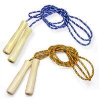 縄跳び 子供用 ロープ 215cm 木柄カラー 木製グリップ 運動会 体育祭 トレーニング ダイエット なわとび 縄跳び 縄飛び 縄飛び とびなわ