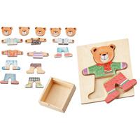 パズル くまさん絵合わせパズル 出産祝い 知育玩具 パズル きせかえ おもちゃ 幼児 子供 学習教材 知育玩具