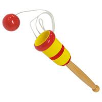 簡単けん玉 (木製) 着色済 木のおもちゃ 木製玩具 知育玩具 景品