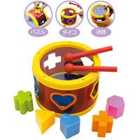 ドラム 3INドラム 知育玩具 おもちゃ 子供用 子供 キッズ おもちゃ 学習教材 パズル★色取り混ぜ