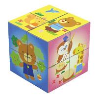 パズル えがわりキューブ 知育玩具 子供 キッズ おもちゃ 幼児 パズル 学習教材
