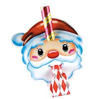 サンタ お面巻取笛 ランダムカラー 仮面 子供 サンタクロース コスプレ クリスマス プレゼント ギフトパーティ
