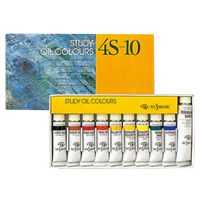 K習作用油絵具10ml 9色セット 4S-10