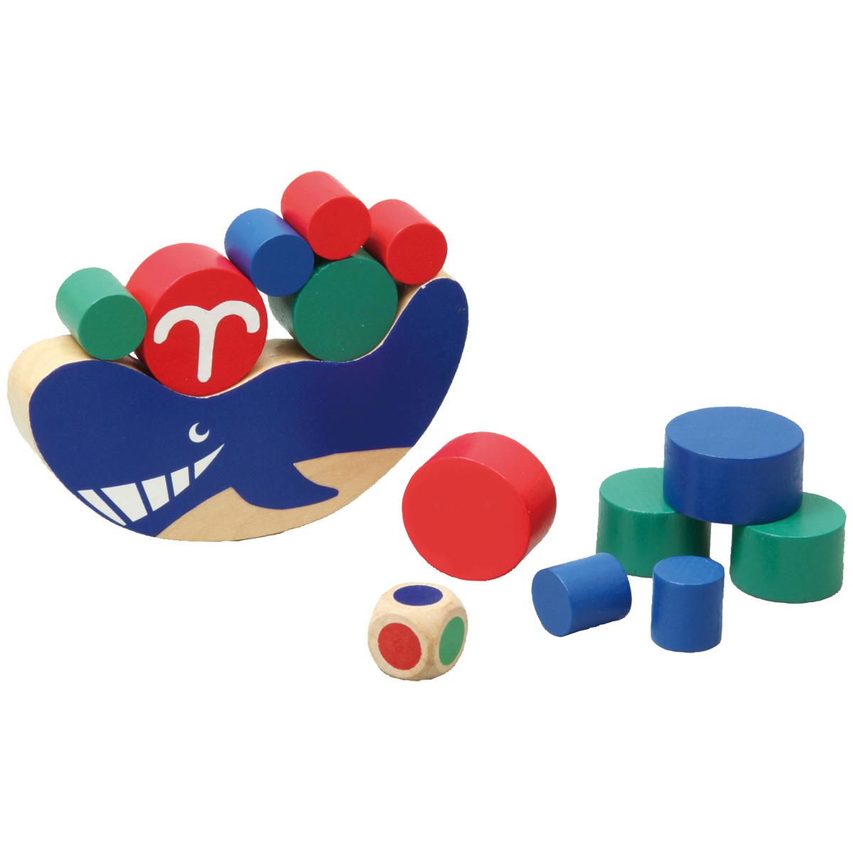 クジラバランス ゲーム バランスゲーム 【木製玩具 木のおもちゃ 知育玩具 3歳 4歳 5歳 6歳 子供 幼児】 クリスマスプレゼント