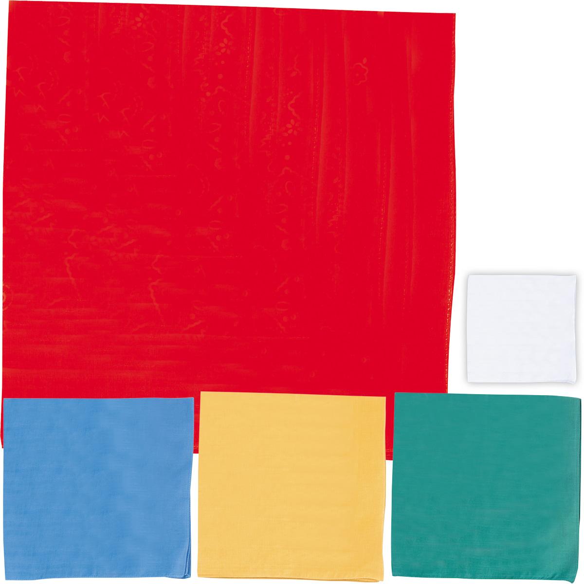 バンダナ 無地 白 赤 青 緑 黄 バンダナ 三角巾 キャップ 帽子 給食当番 幼稚園 小学生 体育