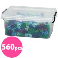 ブロック おもちゃ アーテックブロック クールカラーセット 立体文字・モニュメント作品 560pcs アーテック 日本製 カラーブロック 日本製 ゲーム 玩具 レゴ・レゴブロックのように自由に遊べます