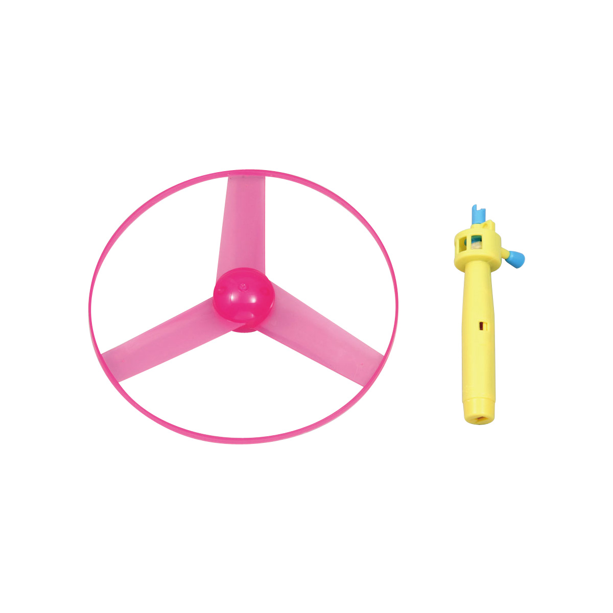 フライングソーサー ランダムカラー 玩具 おもちゃ プロペラ タケコプター トンボプロペラ