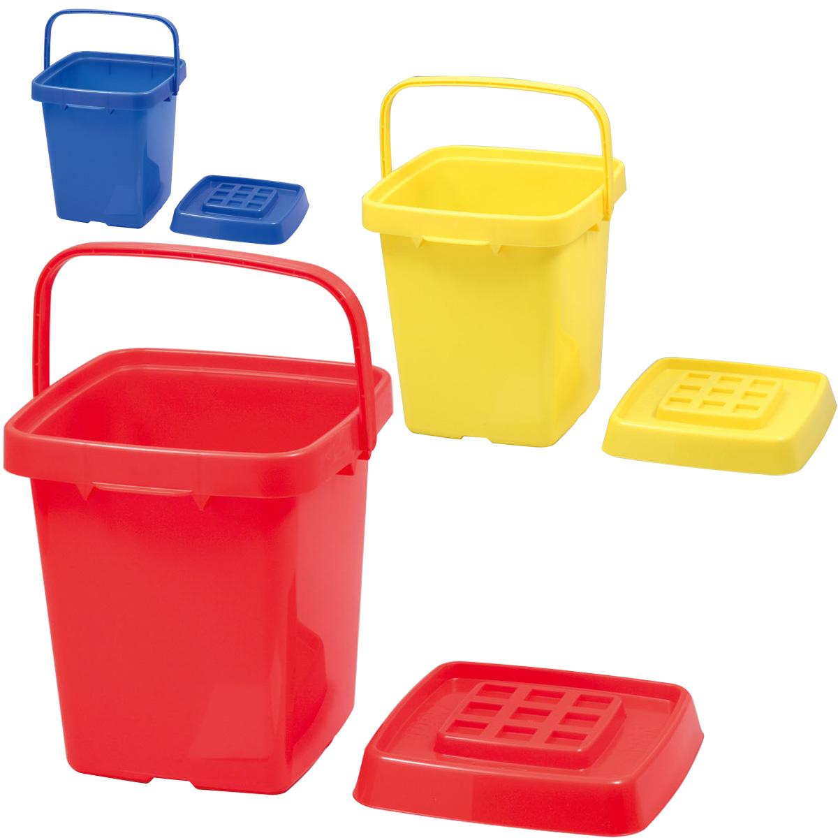 おかたづけボックス お片づけ おもちゃ箱 収納 バケツ ラック ゴミ箱 ダストボックス 玩具入れ 蓋付き クリスマスプレゼント