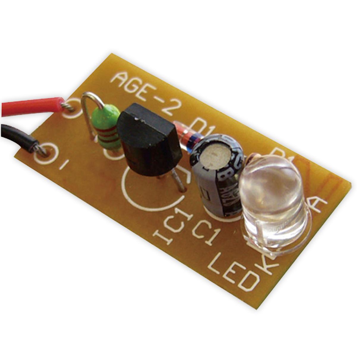 1.5V白色LED点灯キット 086867 アーテック 学校教材 基板 図工 技術 電子工作 クリスマスプレゼント