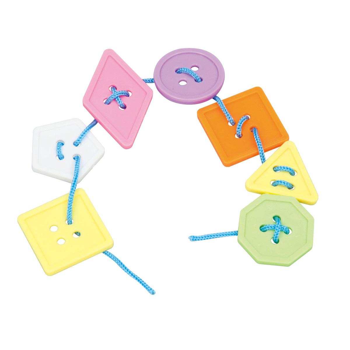知育玩具 紐通し ぼたんひもとおし ランダムカラー 知育玩具 おもちゃ 幼児 クリスマスプレゼント