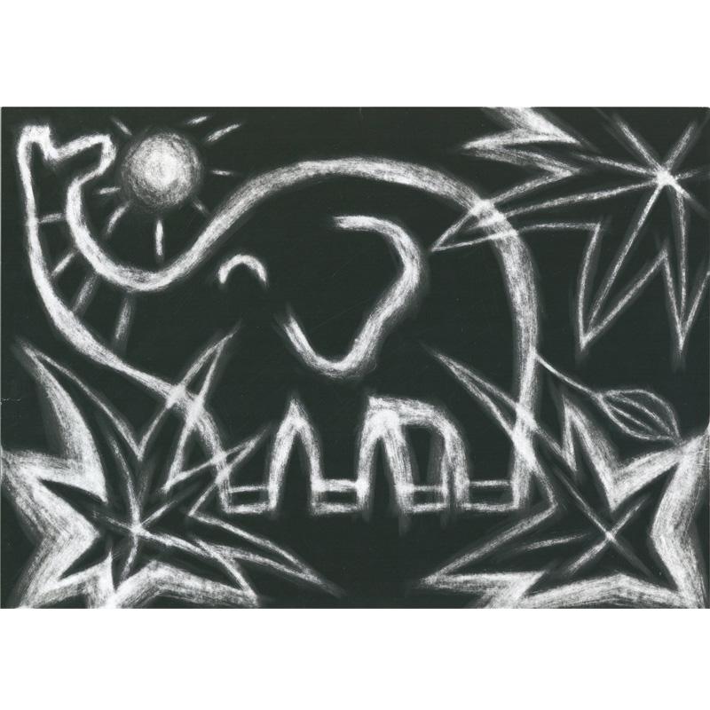 消して書く スクラッチボードのみ8切 アーテック 図工 工作 砂消しゴム お絵かき 学校 教材 美術 自由研究 夏休み 宿題