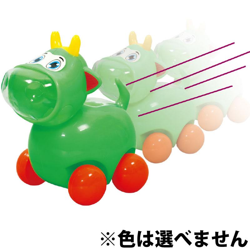 ピカピカモーダッシュ 牛 動く 玩具 おもちゃ 幼児 キッズ 子供 車 ランダムカラー ひも 引っ張る クリスマスプレゼント