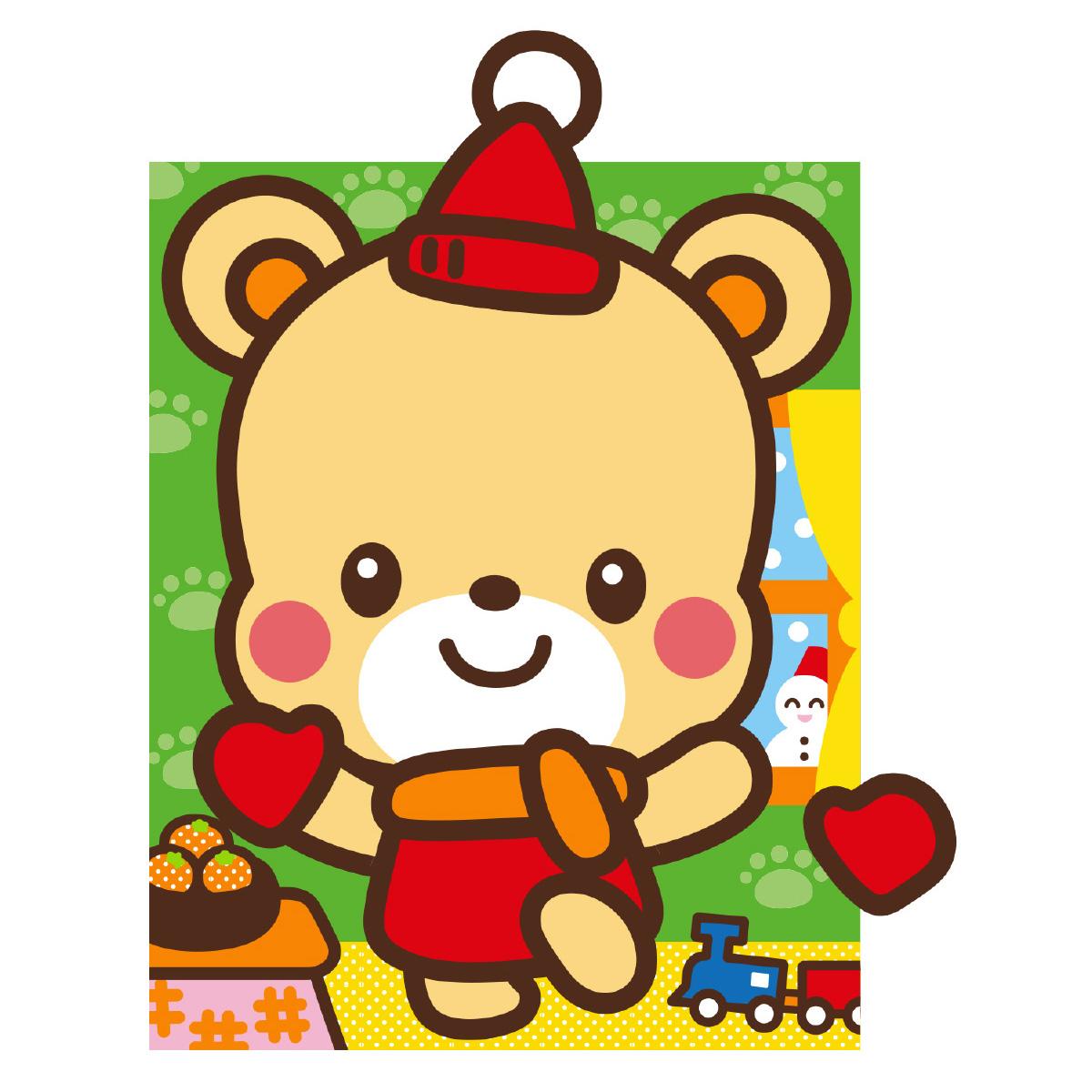 どうぶつ ふくわらい くま 福笑い クマ 熊 動物 かわいい イラスト 幼児 キッズ 子供 知育玩具 正月 ゲーム おもちゃ クリスマスプレゼント